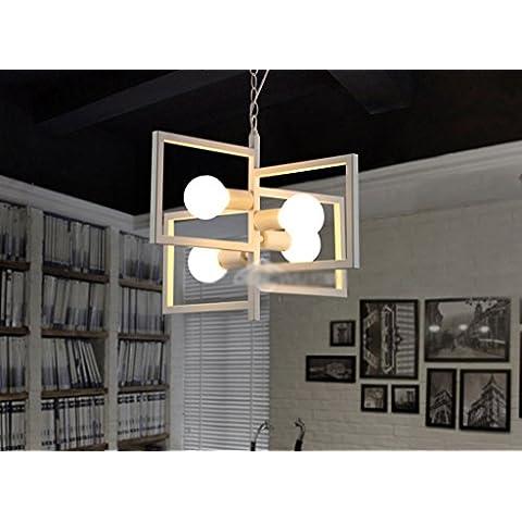 Individualità Bar Lampadari industriali Bar Retro Restaurant l'abbigliamento lampadari in ferro creativo Quattro