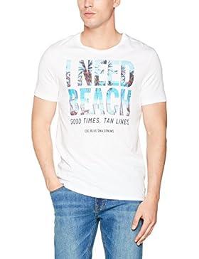 edc by ESPRIT Herren T-Shirt 057cc2k017