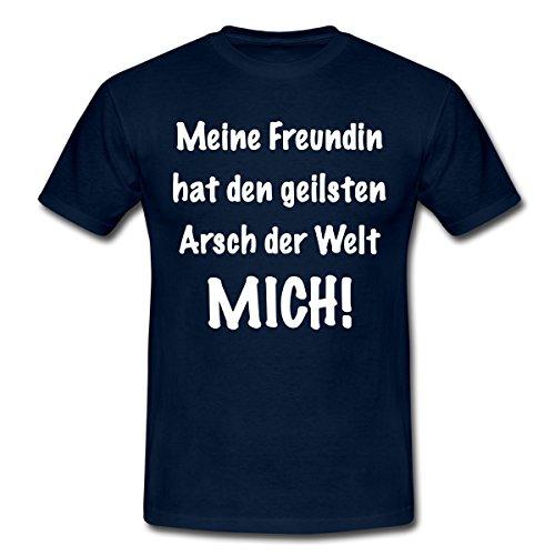 Spreadshirt Geilster Arsch der Welt Männer T-Shirt, L, Navy