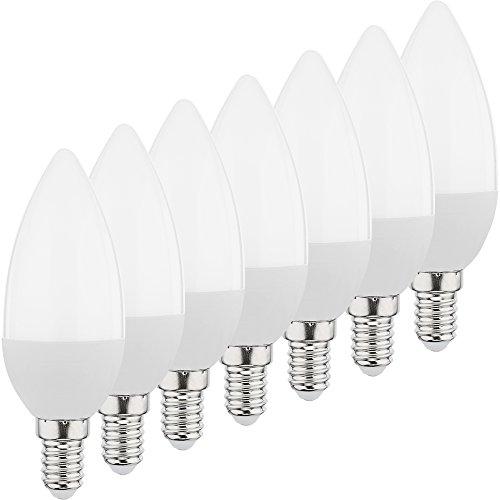 MÜLLER-LICHT 400032 A+, 7er-SET LED Lampe MiniGlobe ersetzt 25 W, Plastik, E14, weiß, 4.5 x 4.5 x 7.9 cm [Energieklasse A+]