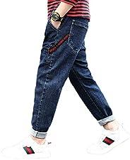 PanpanBox Vaqueros Niños Pantalones Chino Casual Pants Denim Carrot Jeans Adolescentes 3-12 Años