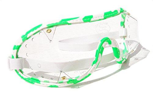ockey National Hunt Punkt zu Punkt Brillen | Stanzteile Vent White/Green with Clear Lens (Horse Racing Brille)