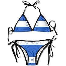 Hipiyoled Bikini de triángulo de Mujer Bandera de Honduras Traje de baño Elegante