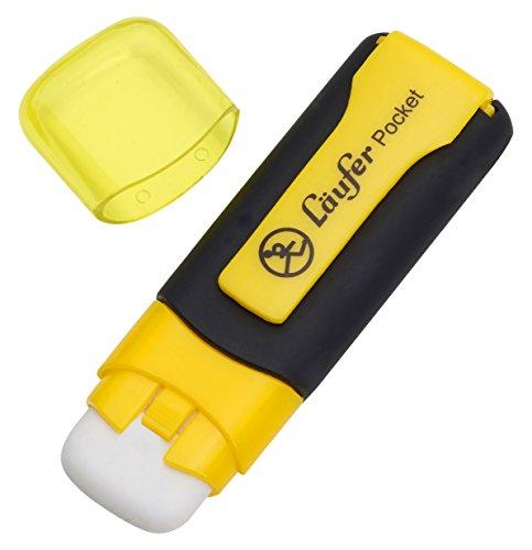 laufer-69242-blisterkarte-pocket-radierer-gelb-radierer-in-markerform-blisterkarte-enthalt-1-radierg