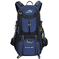 BOZEVON 40L / 50L / 60L Hiking Backpack - Outdoor Sports Camping Hiking Daypacks Waterproof Backpack Trekking Rucksack Mountaineering Bag, Deep Blue, 60L