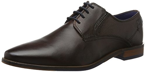 Bugatti 311147011100, Derby homme Marron (Dark Brown 6100)