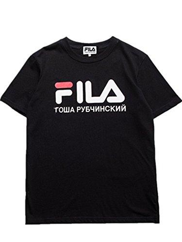 BOMOVO Herren FILA T-Shirt mit Rundhalsausschnitt, 5er PackPremium T-Shirt für Männer Schwarz