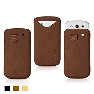 Snugg™ Galaxy S3 Case - Leather Pouch with Lifetime Guarantee (Distressed Brown) for Galaxy S3
