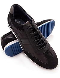 Zerimar Herren Lederschuh Sportschuhe Komfortabler Schuh mit Flexibler  Gummisohle Leder Casual Schuh für Den Mann Hochwertige 07a9121237