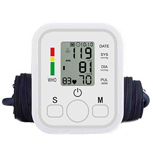 FFNNG Blutdruckmessgerät Blutdruck-Monitor-Gesundheits-USB-Oberarm-Handgelenk-automatischer elektronischer Digital-Sphygmomanometer-Hitze-Rate-Monitor-Meter-Manschette 22to32cm