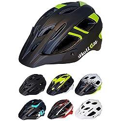Skullcap® Casco Bicicleta Adulto Montaña MTB - Hombre e Mujer, Taglia M (55-58 cm), Colore: Verde y Nero