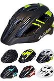 Skullcap Fahrradhelm MTB Mountainbike Helm Herren & Damen Schwarz/Neon-Grün matt mit Visier/Helmschild, Größe L (59-61 cm)