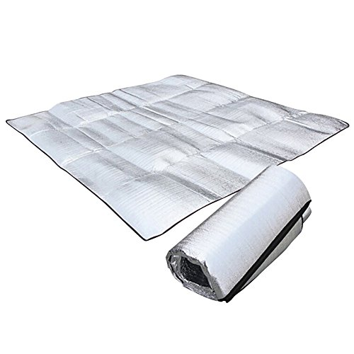 Zdmathe Moistureproof Campingmöbel Picknickdecke Aluminium Matte Alu-Isoliermatte Thermomatte Sleeping Blanket Mat