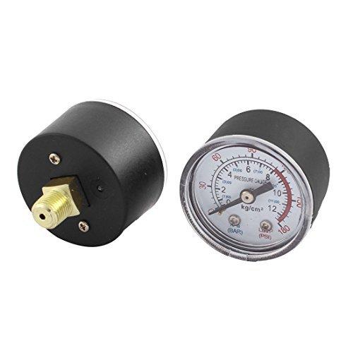 0-180psi 0-12 kg / cm2 1 / 8BSP Gewinde Dia Luftdruckmesser Dial 2 Pcs