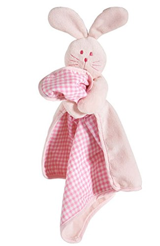 Cute Soft Plush Puppy Blanket with Squeaky Toy Bunny Head (Pink) 1