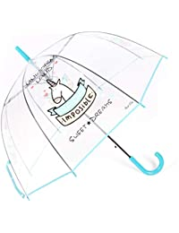 Paraguas Unicornio,Paraguas Transparente, a Prueba de Viento y a Prueba de Lluvia, Forma