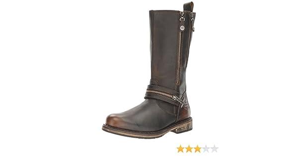 845b40aa21e0 Harley Davidson Ladies Biker Style Boots Sackett - Brown Leather - UK Size  3.5 - EU Size 36 - US Size 5.5  Amazon.co.uk  Shoes   Bags