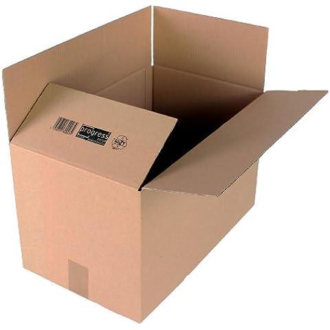 progressCARGO - PC K10.07 - Caja de embalaje, cartón ondulado, 1 ondulación, 500 x 300 x 300 mm, 20 unidades, color marrón