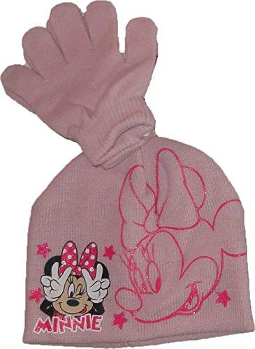 Disney Minnie Maus Winterset Mütze-Handschuhe in Rosa Gr. (Minnie Mütze Disney)