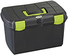 Caja de limpieza Arrezzo negro/pistacho con inserto extraíble