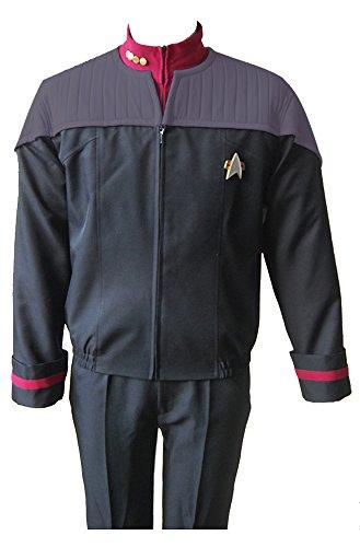 Star Trek Nemesis Voyager Captain Sisko Uniform Cosplay Kostüm Herren (Kostüme Trek Star Voyager)