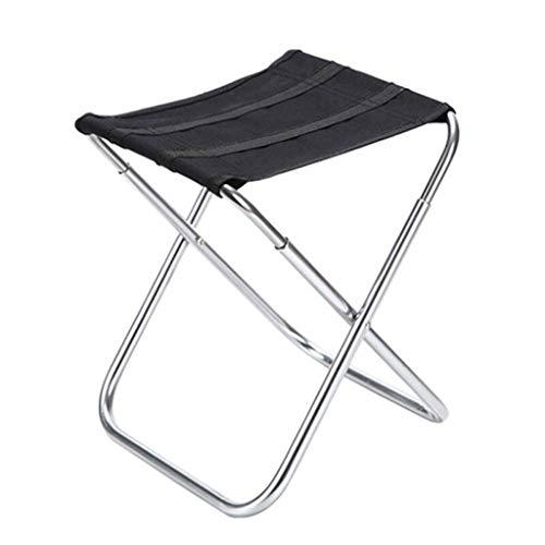 ZDYUY Tragbarer Klappstuhl für Camping Folding Aluminium Hocker Leichte Klappstuhl Travel Fishing Garden Camp (Farbe : B)