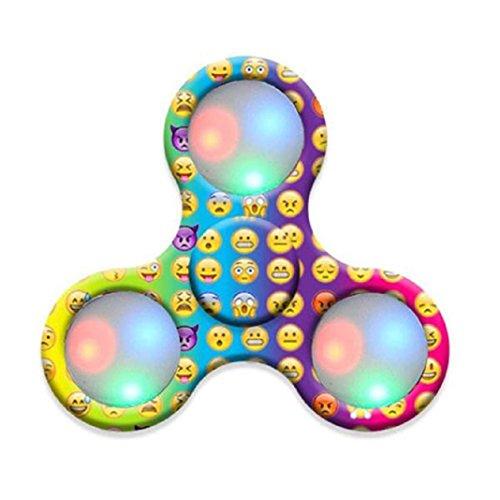 Preisvergleich Produktbild Mode LED Licht Fidget Hand Spinner Torqbar Finger Spielzeug EDC Focus Gyro Fast Versand (Mehrfarbig)