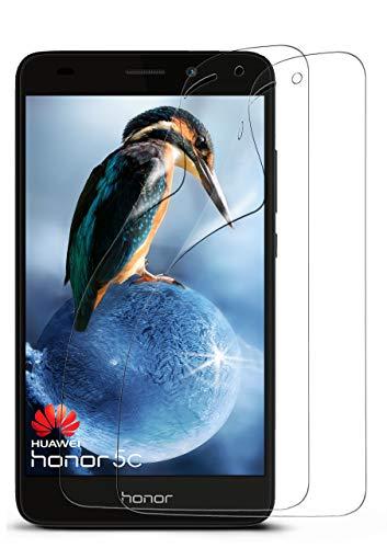 moex 2X Huawei Honor 5C | Schutzfolie Klar Display Schutz [Crystal-Clear] Screen Protector Bildschirm Handy-Folie Dünn Displayschutz-Folie für Honor 5C / Honor 7 Lite/Huawei GT3 Displayfolie