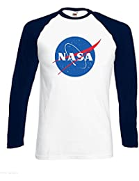 NASA Space Nebula Explorer Nerds Frikadelle Logo Männer T Shirt
