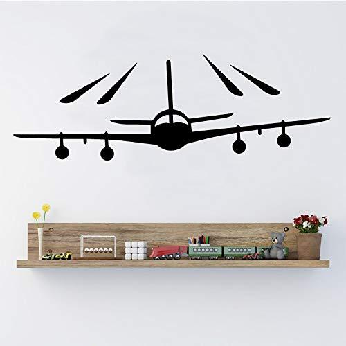 Flugzeug Muster Wasserdichte Wandaufkleber Wandkunst Dekor für Wohnzimmer Schlafzimmer Dekoration Zubehör Vinyl Wandkunst Aufkleber 43 * 14 cm