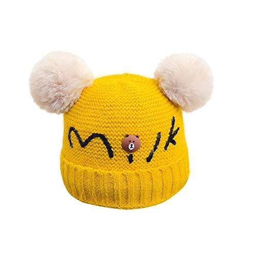Easy Go Shopping Bonnet d'hiver pour Enfants en Laine, Chaud et tricoté, Double Bonnet pour bébé