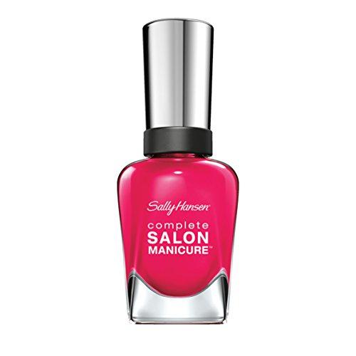 Sally Hansen Complete Salon Manicure Nagellack, 724 Cherry Trendy / glänzender und lang anhaltender Farblack, kräftiges Pink, 14.7 ml