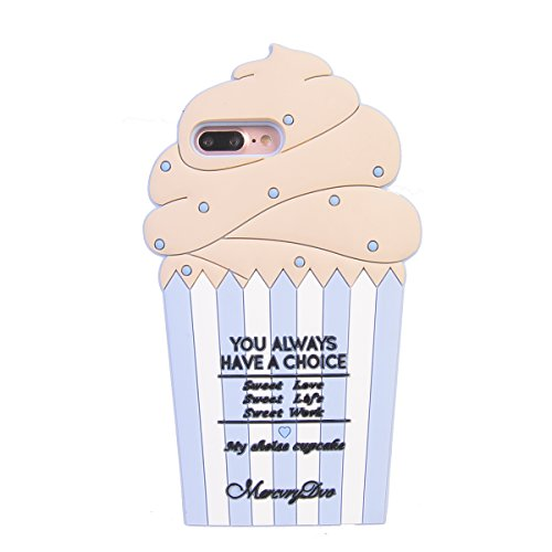 iPhone 7 Plus (5.5 inches) Hülle,COOLKE 3D Fashion Klassische Karikatur weiche Silikon Shell Schutzhülle Hülle case cover für Apple iPhone 7 Plus (5.5 inches) - 018 014