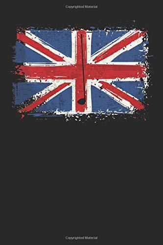 British Flag Golf: Golf Notebook   UK Golfer British Flag Vintage Journal Golfing Mini Notepad (6