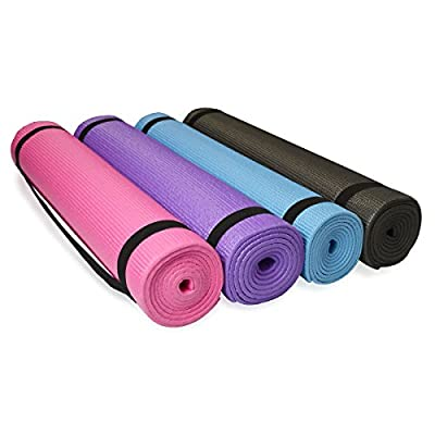 diMio PVC Yogamatte Pilates Fitnessmatte 185x60cm | Matte in 4 Farben für Yoga Fitness und mehr