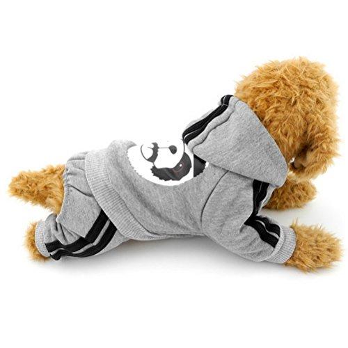 zunea Panda Dick mit Kapuze kleine Hunde Katze Jumpsuit Hoodies Fleece Winter Warm Pet Puppy Pullover Coat Jersey Kleidung (dieser Style Run klein, wählen Bitte eine Größe (Kostüm Panda Weibliche)