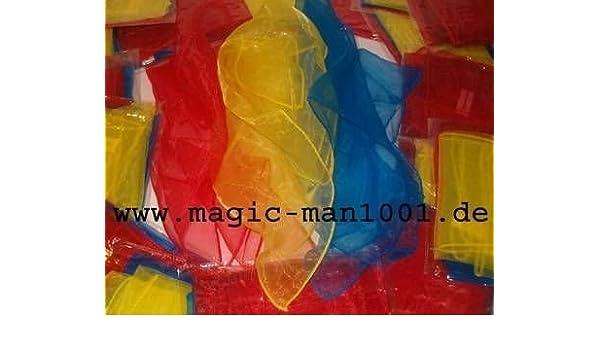3 Jongliertücher 40 x 40 cm rot//gelb//blau Tanztücher Kinder