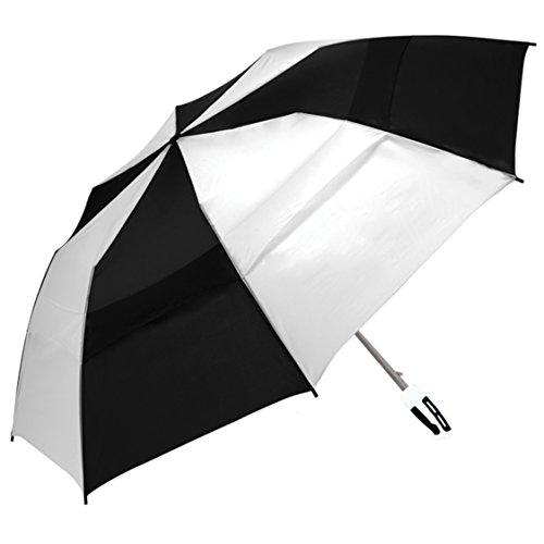 shedrain-2010-blackwhite-windjammer-vented-auto-open-jumbo-compact-golf-umbrella-58-inch-arc