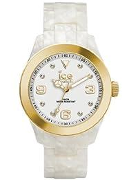 ICE-Watch - Montre Mixte - Quartz Analogique - Ice-Elegant - Pearl - Gold - Unisex - Cadran Blanc - Bracelet Plastique Blanc - EL.PGD.U.AC.12