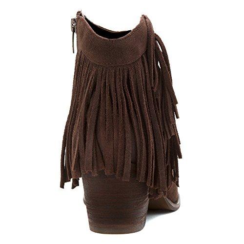 Marc Fisher Sade Damen Rund Wildleder Mode-Stiefeletten Dark Brown