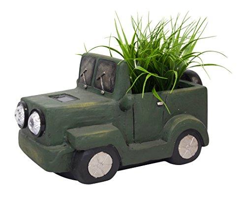 Deko-Figur Auto XXL bepflanzbar mit 2 LED