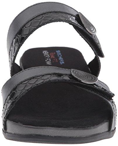 Skechers Palm Springs Kleid Sandale Pewter/Black