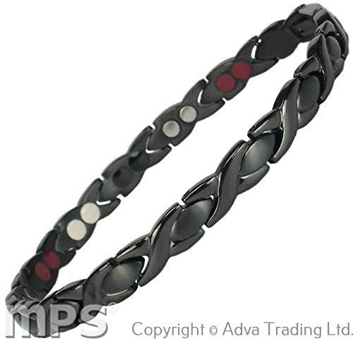 c0c6041aabc MPS® 4 bioéléments Titane bracelet magnétique avec boucle déployante et des  aimants puissants