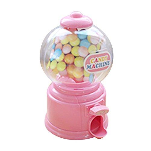 Homyl Mini Kaugummiautomat Süßigkeiten Bonbons Maschine Spielzeug - Rosa -