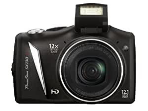 Canon - PowerShot SX130 IS - Digital camera - compact - 12.1 Mpix - optical zoom: 12 x - supported memory: MMC, SD, SDXC, SDHC, MMCplus - black