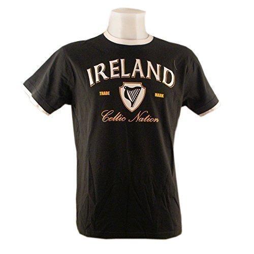 Irland Flasche/Weiß/Gold T-Shirt (S-XXL) - Grün, 3XL