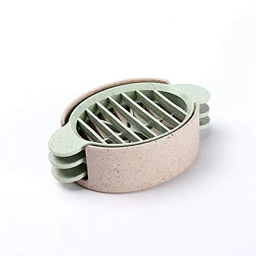Matty-LZ Neu Küchenbedarf Umweltschutz Sicherheit Eierschneider mit DREI Aufschnittmethode, Hergestellt aus den Stielen und Blättern reifer Kulturpflanzen 2PCS (Khaki)