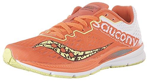 Saucony Fastwitch 8 Damen Laufschuhe Coral-Citron Gr. 40
