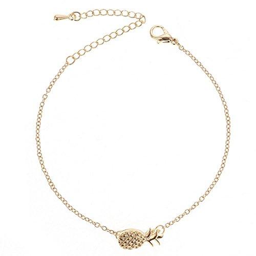 Cdet Damen Armband Frucht Ananas Armband Legierung Armband Schmuck Geburtstag Valentinstag Weihnachten das Erntedankfest Geschenk Mode Silber Armbänder