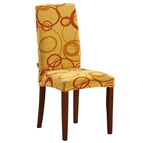 Joker Coprisedia vesti sedia millerighe elasticizzato 2 pezzi linea Cerchio L680 SOLE / GIALLO
